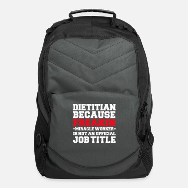 Valentine's Day Dietitian because Miracle Worker not a job title - Computer Backpack