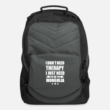 Culture Don't Need Therapy Need to go to Mongolia - Computer Backpack
