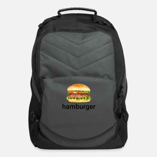 Meme Bags & Backpacks - Hamburger Dank Meme - Computer Backpack charcoal