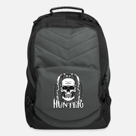 Raider Bags & Backpacks - Cool Bowhunter Skull Archery Bow And Arrow Hunter - Computer Backpack charcoal