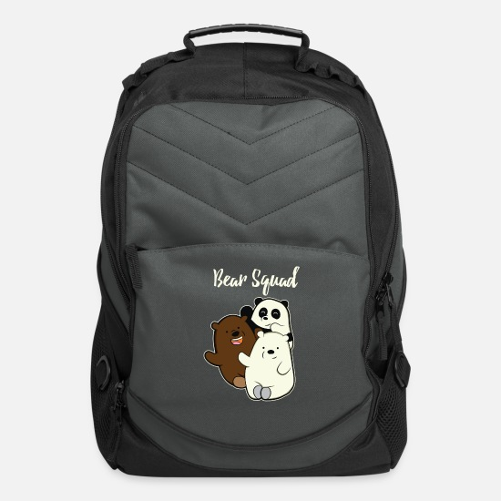 Panda Bags & Backpacks - Bear Squad Bear Panda Polar Bear Brown Bear Gift - Computer Backpack charcoal