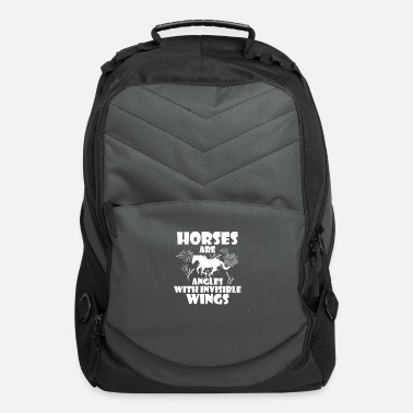 Horseriding Horses are angels with invisible wings - Computer Backpack