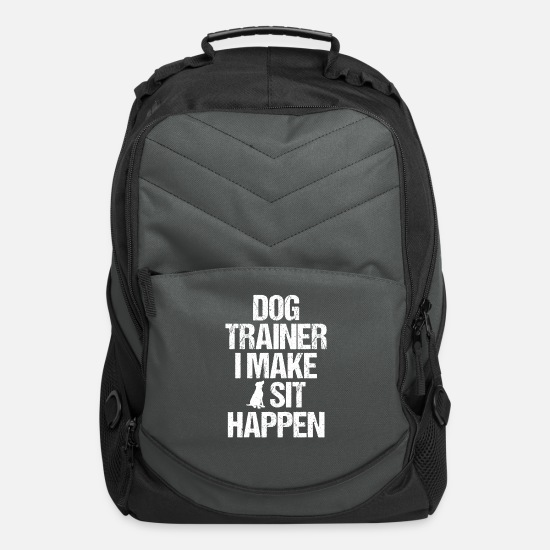 Service Bags & Backpacks - Dog Trainer Dog Commands Obedience Training - Computer Backpack charcoal
