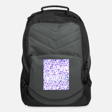 Double Red Black Green inverted grid - Computer Backpack