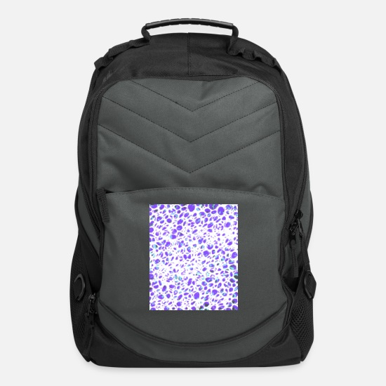 Pink Bags & Backpacks - Red Black Green inverted grid - Computer Backpack charcoal