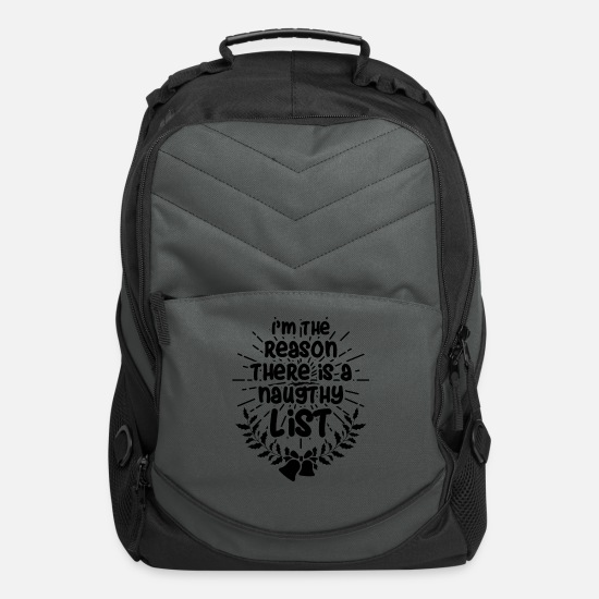 Christmas Bags & Backpacks - Merry Christmas - Computer Backpack charcoal