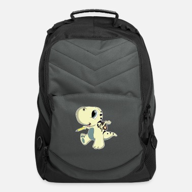 First Grade School start 1st grade Dino Dinosaur Gift - Computer Backpack