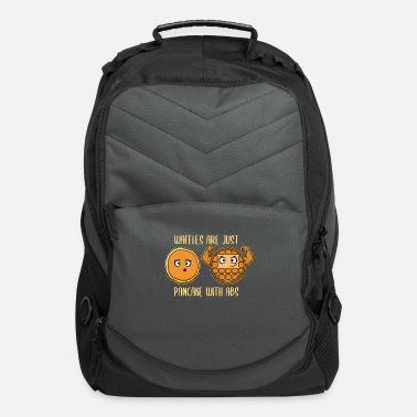 Waffle Waffles Are Just Pancakes With Abs Fitness Gift - Computer Backpack