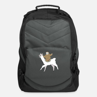 Species Sloth Riding A Llama Animal Lover Vacation - Computer Backpack
