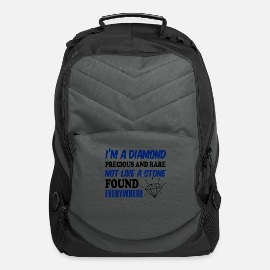 Wife Bags & Backpacks - I'm A Diamond Precious And Rare Not Like A Stone - Computer Backpack charcoal