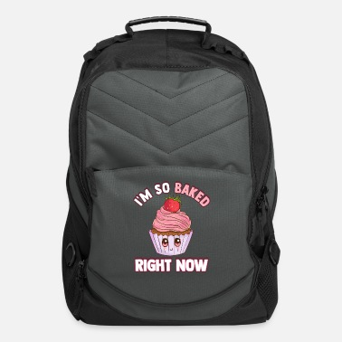 Now Pun Cute & Funny I'm So Baked Right Now Cupcake Pun - Computer Backpack
