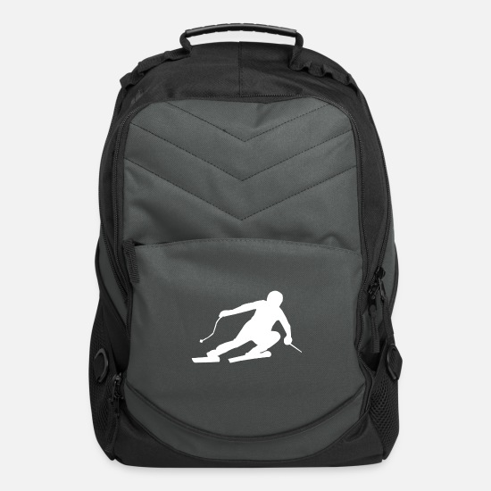 Gift Idea Bags & Backpacks - skier - Computer Backpack charcoal