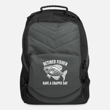 Trout Retired Fisher Have a Crappie Day Funny Fishing - Computer Backpack