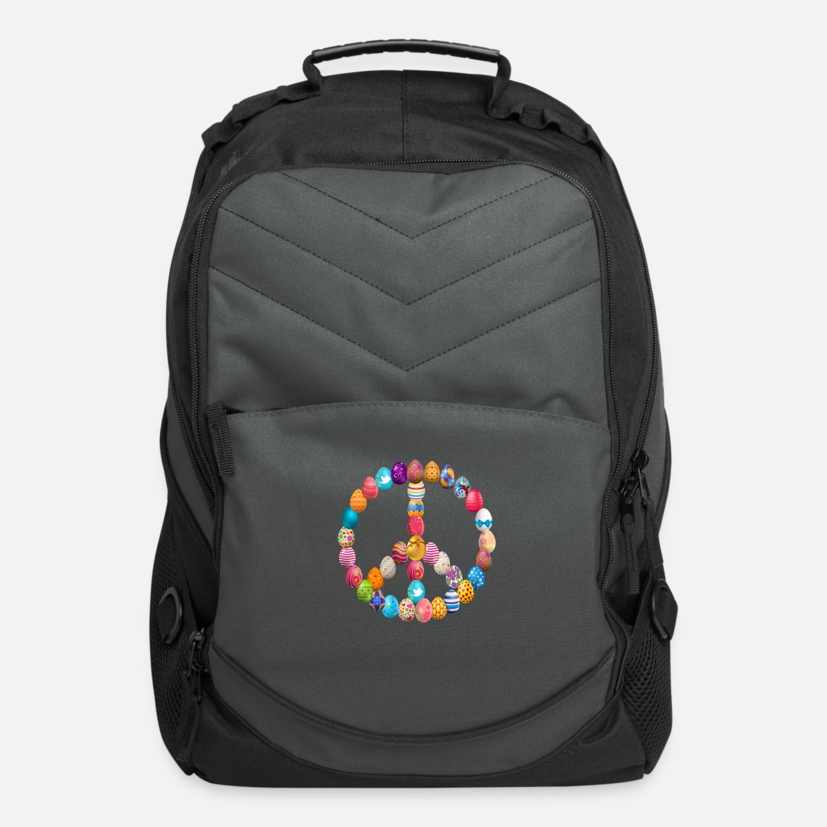 Peace Sign Student Backpack Personalized