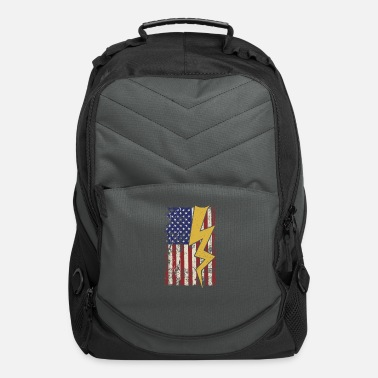 Electricity Electrician USA American Flag - Computer Backpack
