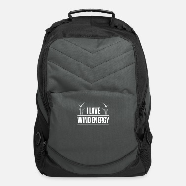 Best Windmill Mill Green Turbine Wind Energy Wind Power - Computer Backpack