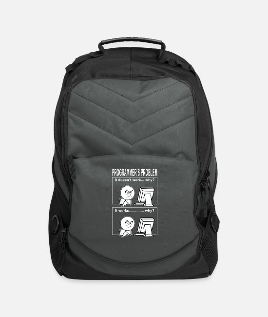 System Run Bags & Backpacks - Programmer's problem encoding - Computer Backpack charcoal