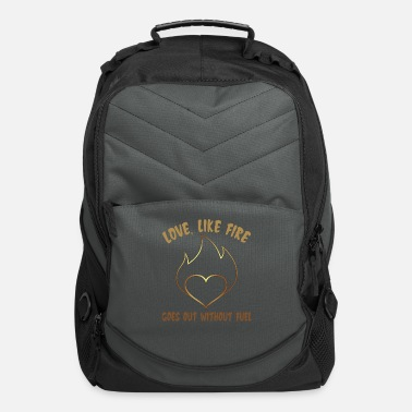 Romantic Love Like Fire That Goes out Without Fuel - Computer Backpack