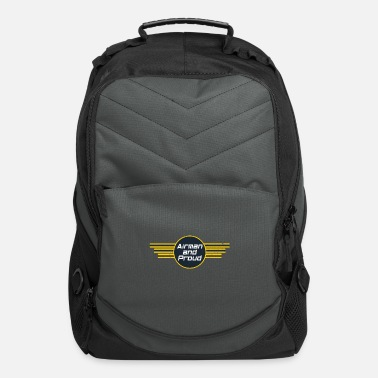Numbered Air Force Airman And Proud - Air Force - Computer Backpack
