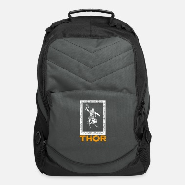 Loki Cool Thor and Mjolnir Viking Norse Cosmology Runes - Computer Backpack