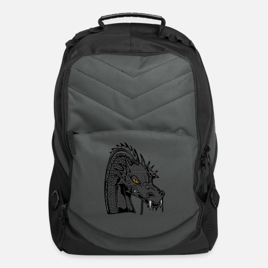 Dragon Bags & Backpacks - Dragon, dragon head, animal, animal lovers - Computer Backpack charcoal