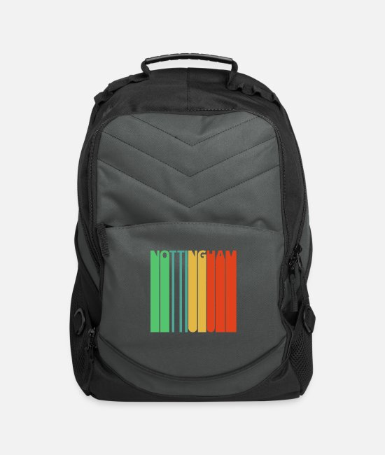 Nottingham Bags & Backpacks - Vintage Retro Nottingham Gifts. - Computer Backpack charcoal