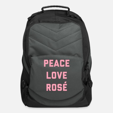 Love Peace Love Rosé Quote  - Computer Backpack