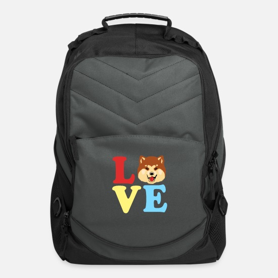 Love Bags & Backpacks - Akita Dog Trainer Dogowner Japan Pet Loyalty Breed - Computer Backpack charcoal
