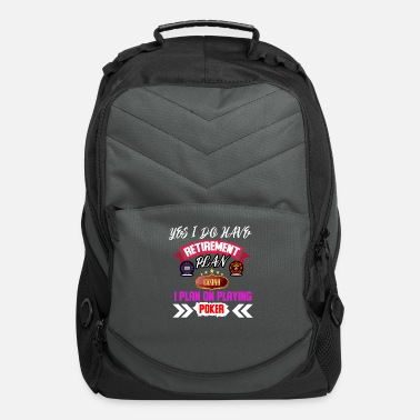 Pik Poker Face Casino Bluff Las Vegas Pik All In Cards - Computer Backpack