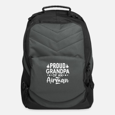 Proud Airman Proud Grandpa Of An Airman Fathers day Gift - Computer Backpack