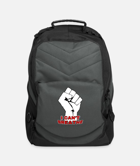 Injustice Bags & Backpacks - I Can't Breathe - Black Lives Matter - Anti racism - Computer Backpack charcoal