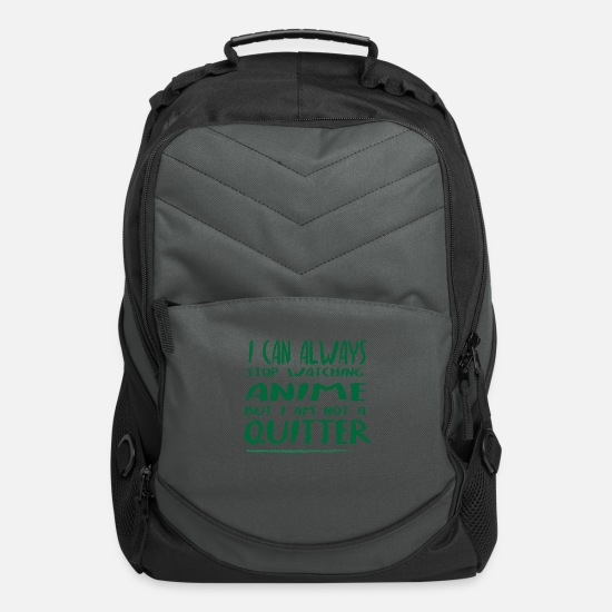 Birthday Present Bags & Backpacks - ANIME LOVERS ARE NOT QUITTERS - Computer Backpack charcoal