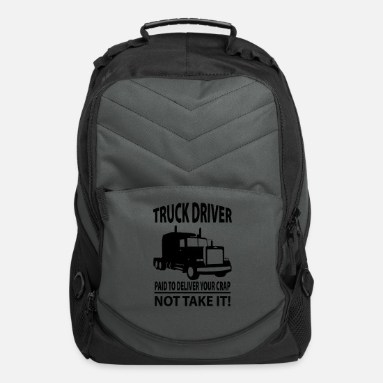 Truck Bags & Backpacks - Truck Driver - Computer Backpack charcoal