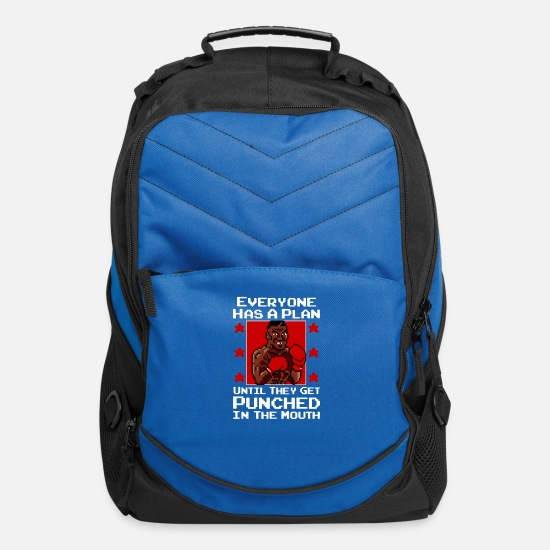 Get Engaged Bags & Backpacks - Everyone has a Plan Until They get Punched in The - Computer Backpack royal blue