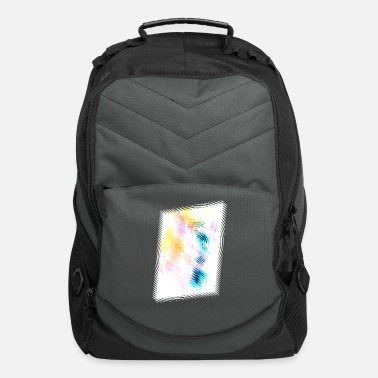 Abstract Inferno shifted X invert - Computer Backpack