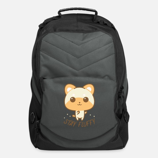 Love Bags & Backpacks - Stay Fluffy. Kawaii animal. For animal lover. - Computer Backpack charcoal