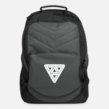 Geometry Optical illusion  Minimal Shape - Computer Backpack