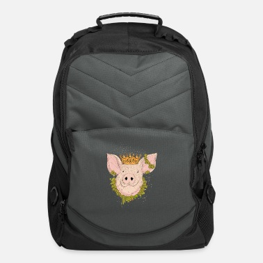 Drawing Lucky pig with crown - Computer Backpack