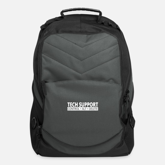 Technics Bags & Backpacks - Technical Support / Job Quote IT Nerd / IT support - Computer Backpack charcoal