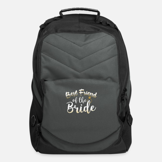 Bride Bags & Backpacks - Best Friend Of The Bride Wedding Ring Cool Gift - Computer Backpack charcoal