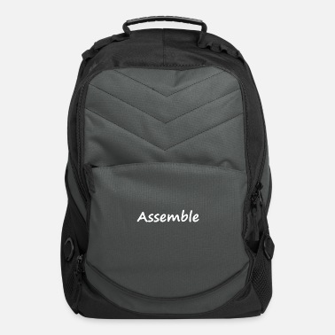 Assembly Assemble lettering - Computer Backpack