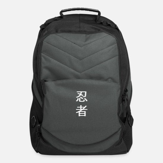 Ninja Bags & Backpacks - Ninja Japan Kanji - Computer Backpack charcoal