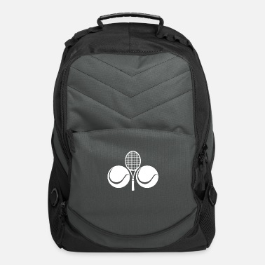 Racket Tennis racket and two balls - white - Computer Backpack
