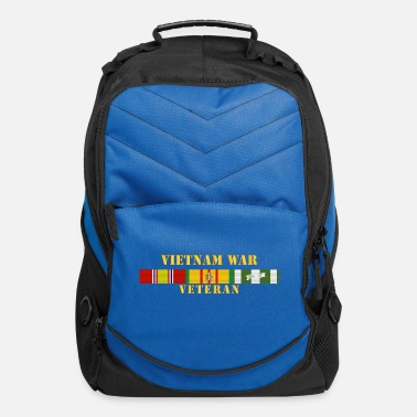 War Vietnam War Veteran w Vietnam Service Ribbons - Computer Backpack