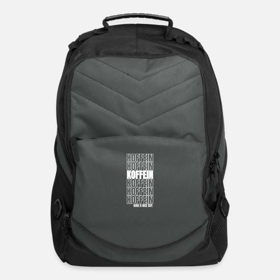 Caffeine Bags & Backpacks - Caffeine coffee morning cappuccino gift - Computer Backpack charcoal