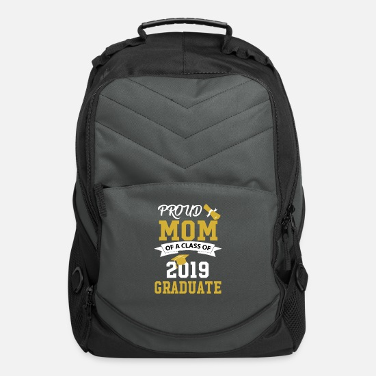 Proud Bags & Backpacks - Proud Mom of a Class of 2019 Graduate - Computer Backpack charcoal