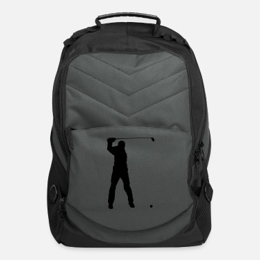 Golf Swing man swinging golf club - Computer Backpack