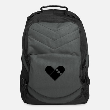 I Heart Minimal Skateboard - Heart Logo Design / Icon - Computer Backpack