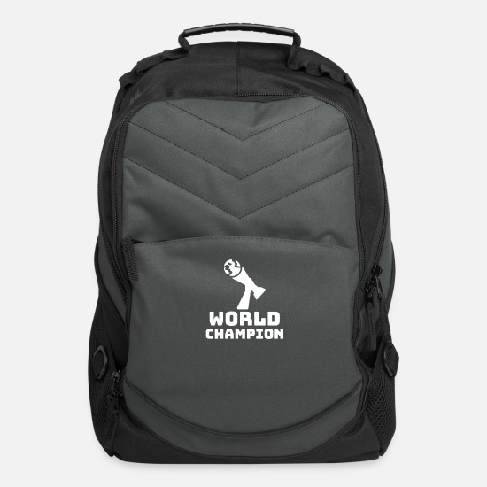 Ball Bags & Backpacks - Football Player World Champion Ball Sport Gift - Computer Backpack charcoal