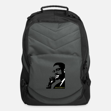 RED Backpack Bag with MALCOLM X LOGO EMBROIDERED
